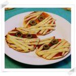 Mini Pizzas Margarita para Halloween