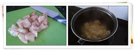 Cocer el Pollo a dados